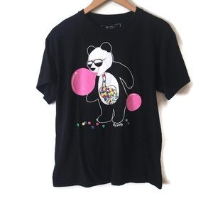 RIOT SOCIETY Panda Bear Gum ball Tee Size XL